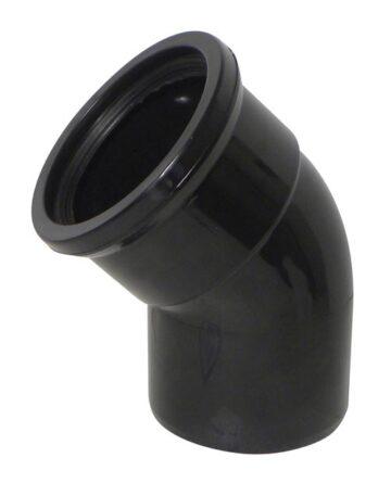 110mm 135 Degree Single Socket  Bend Black