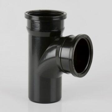 110mm 92.5 Degree Double Tee Black