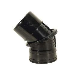 110mm Adjustable Bend 0-45 Degree Black