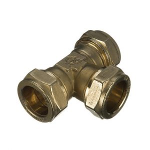 54mm Brass Compression Equal Tee Various Quantities