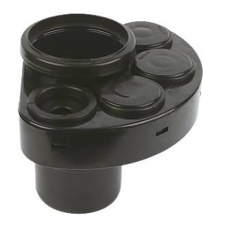 110mm Waste Manifold Black