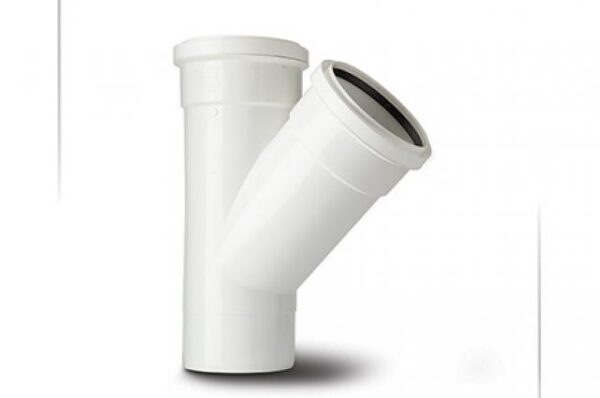 110mm 135 Degree Double Socket Branch White