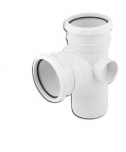 110mm 92.5 Degree Double Socket Branch White