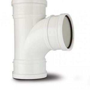 110mm 92.5 Degree Triple Socket Branch White
