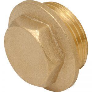 "1"" BSP Brass Flanged Plug"