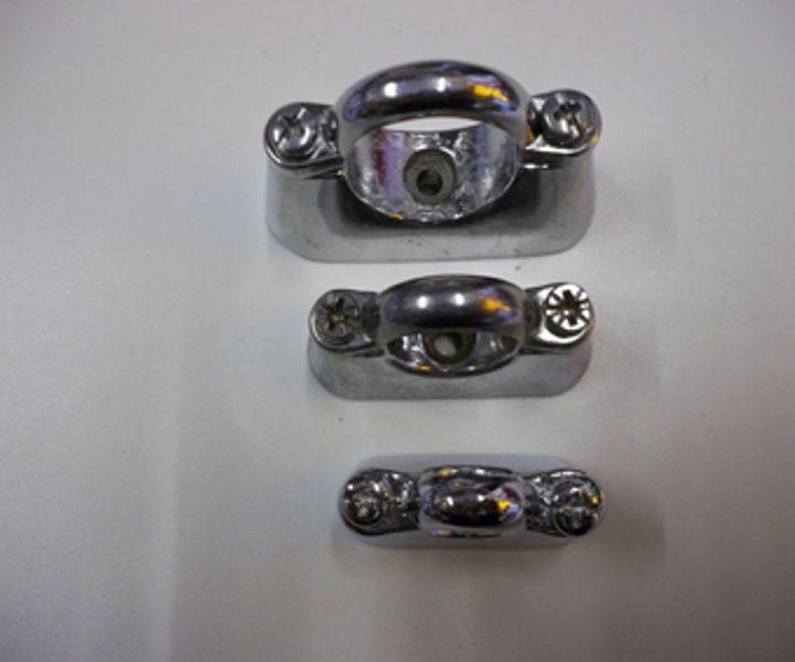 Buy Chrome On Brass Hospital Bracket Pipe Clips 15mm