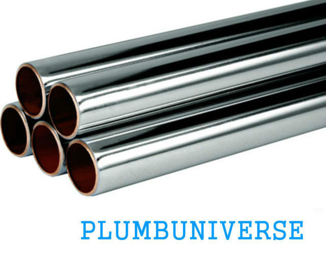 Buy Chrome Plated Copper Tube Pipe 8mm 12mm 15mm 22mm X