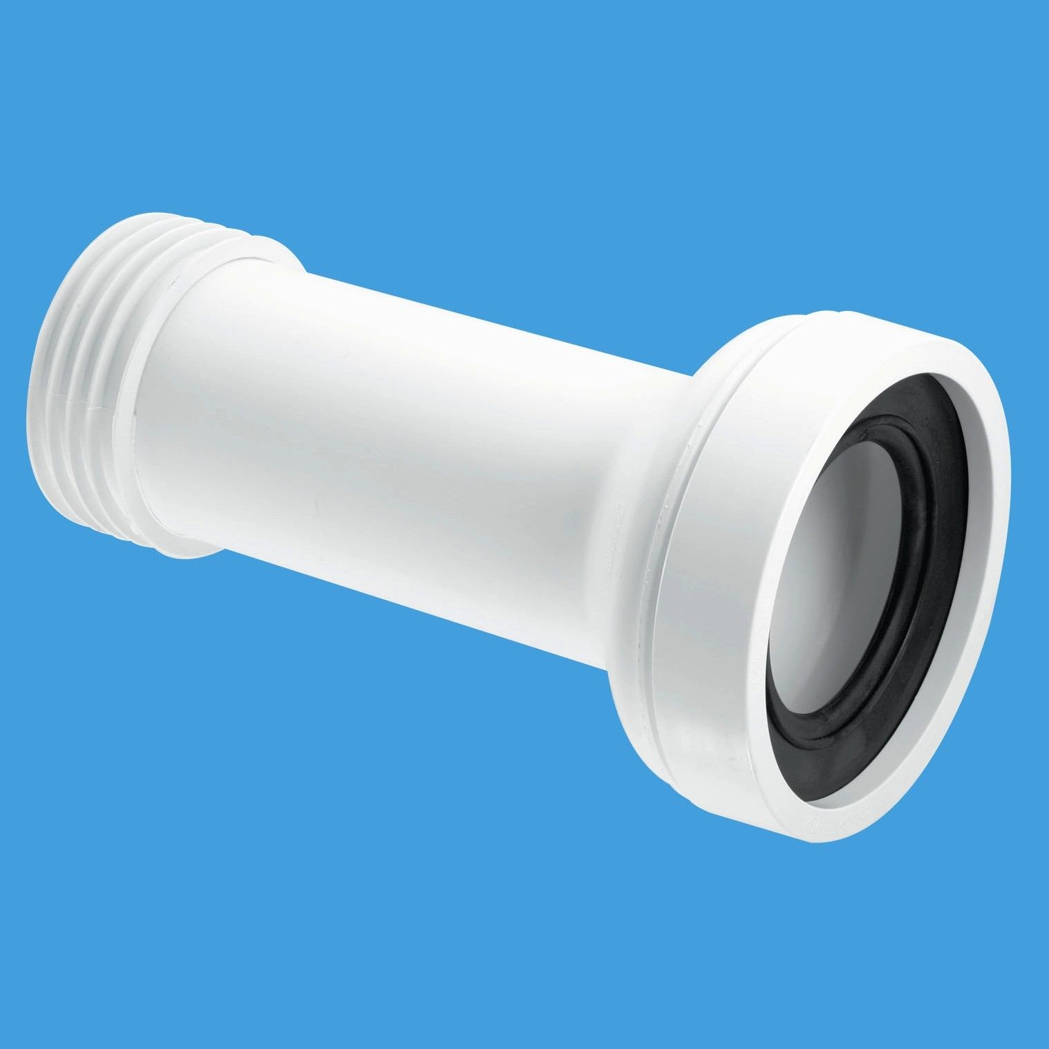 Buy mcalpine wc adjustable toilet pan connector waste for 90mm soil pipe fittings