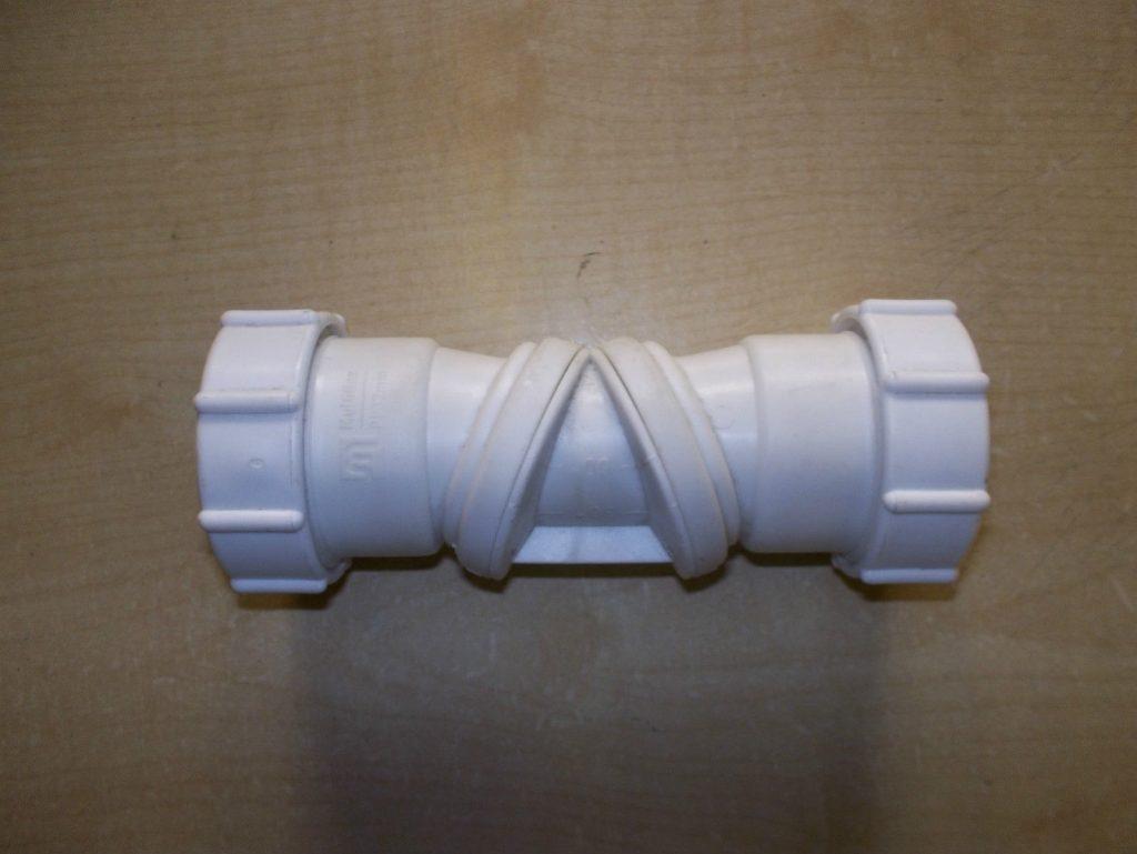Buy 40mm    1 U00261  2 U0026quot  White Adjustable  Flexible Waste Pipe